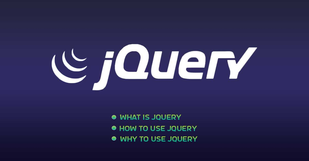 Why use Jquery