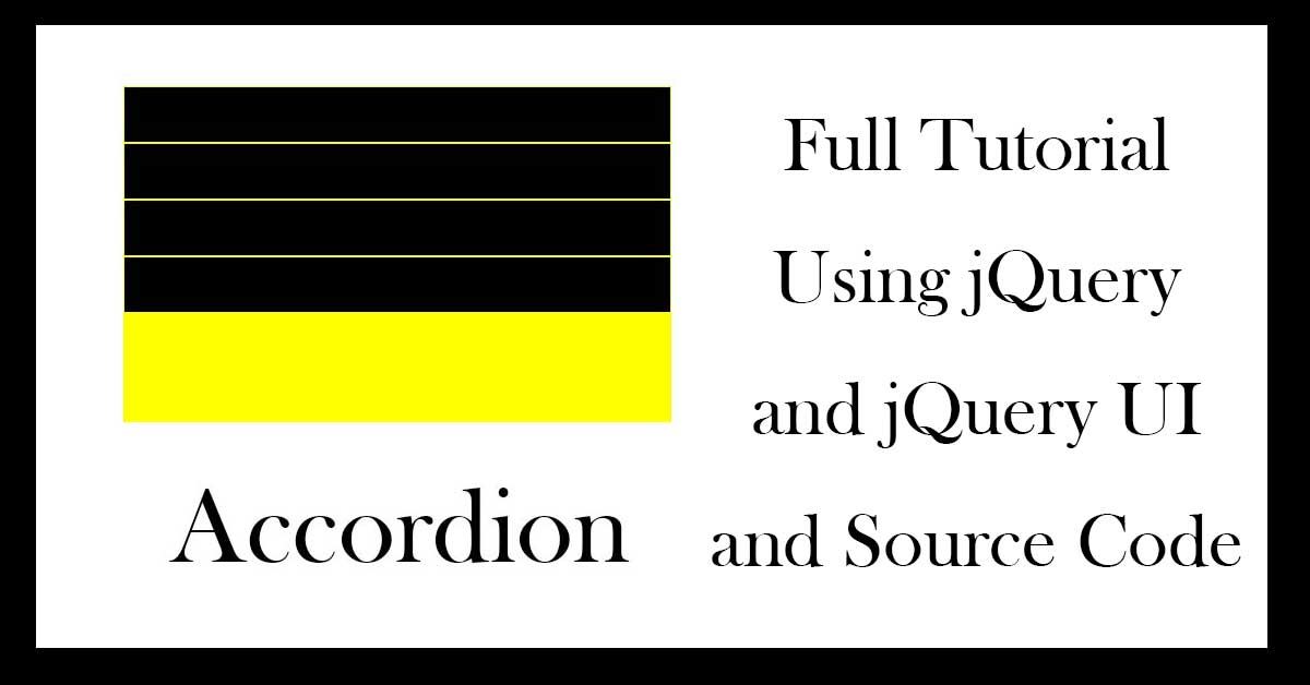 How can we make Accordion using jquery?
